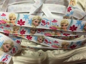 New 1 Metre Frozen Elsa Grosgrain Ribbon Designer 8mm Cakes Bow Dummy Gift Wrap