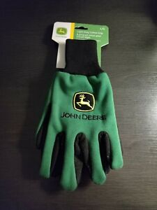 John Deere Light-Duty Cotton Grip Gloves (LP42385) - Large