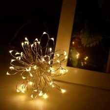 Radiance LED String Lights, 6 ft Warm White, Battery Powered 2 PK New Free Ship