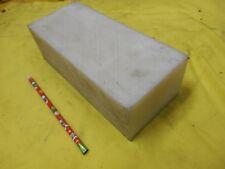 "NATURAL NYLON BAR machinable plastic flat sheet stock 3"" x 4"" x 9 1/2"" OAL"