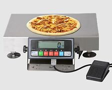 """New 30Lb/0.1oz Stainless Steel Pizza Scale 16""""x 12"""" Platter Size w/ Foot Padel"""