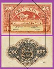 Denmark 500 Kroner 1944.  UNC - Reproductions