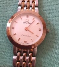 Omega Constellation Lady steel/gold and diamonds Ø 23 mm Quarz with box