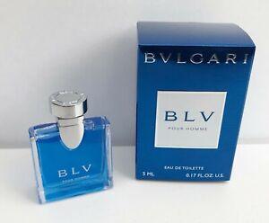 Bvlgari BLV Pour Homme Eau de Toilette mini for men, 5ml, Brand New in Box