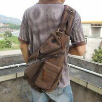 Travel  Men Satchel Sling Bag Retro Chest Pack Messenger Shoulder Bag Cross Body