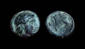AE9 Mytilene - Lesbos (Apollo / Bull head)