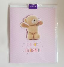 Hallmark Forever Friends 'C IS FOR CELEBRATE!' Cute Bear Occasion Greetings Card