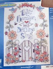 "1 Pretty ""Let Heaven & Nature Sing"" Counted Cross Stitch Kit"