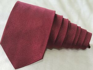 """CHARVET PLACE VENDOME RED MEN'S TIE W: 3.75"""" L: 59"""" MADE IN FRANCE"""