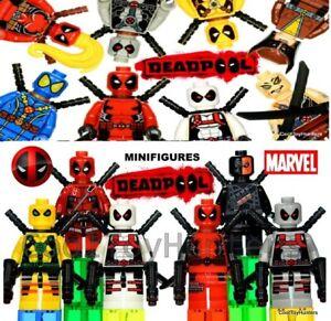 🌈Deadpool Wade Wilson Mini Figures Set FOR LE GO Marvel From UK🌈