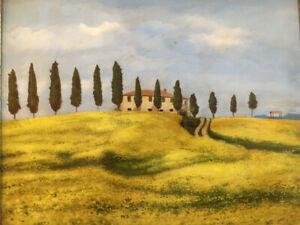 Une peinture huile de CALZOLARI encadrée