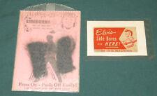 Elvis Presley EPE Side burns W/ Card and Original Vending Machine Label 1956