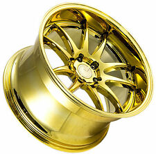 "18"" 18X10.5 +22 AodHan DS02 5X114.3 Vacuum Gold Deep Lip Rims Set of Four (4)"