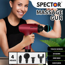 Spector Massage Gun Deep Tissue Percussion Massage Muscle Vibrating Relaxing Red