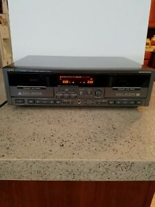 JVC TD-W805 Stereo Double Cassette Deck Player Recorder, Dolby HX Pro - TESTED