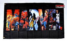 Marvel Flag Banner 3x5 ft Super Heroes Comics Wall Garage Black