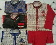 Silk Kids Kurta Pajama Children Dress Tunic Churidar Indian Bollywood ethnic