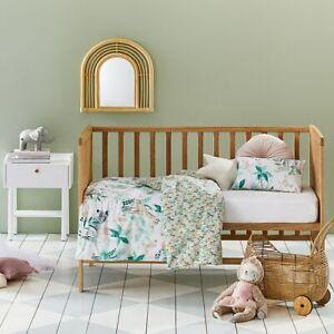ADAIRS KIDS Hidden Jungle COT Quilt Cover Set - Tropical, lions, giraffes, pinks