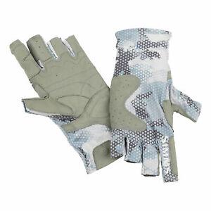 SALE Simms Solarflex Guide Glove Hex Flow Camo Grey Blue XS NEW FREE SHIPPING