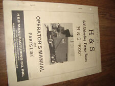 H&S Self Unloading Forage Boxes 500 1978 Operators Manual And Parts List