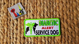 NEW assistance dog Diabetic alert patch K9 Embroidered iron on