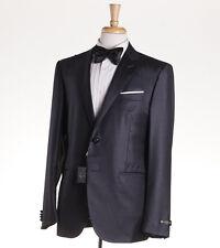 NWT $1975 CORNELIANI Dark Gray Peak Lapel Wool Formal Suit 44 R Tuxedo