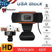 HD Webcam Camera USB Web Cam Autofocus With Mic For Computer PC Laptop Desktop