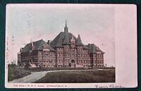 Springfield Ohio Oddfellows IOOF Home postcard w 1906 RPO postmark