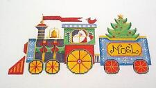 *NEW* Santa Express Christmas Train handpainted Needlepoint Canvas Rebecca Wood