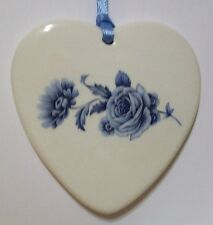 Blue Roses Stemmed Sidespray Floral Heart Basket Tie On-New-Last One Available!