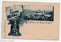 Gruss aus Sigmaringen  Germany Postcard.  Dunedin New Zealand to New York 1904
