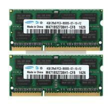 Samsung 8GB 2x 4GB 2RX8 DDR3 1066MHz PC3-8500S 204PIN SO-DIMM de memoria para MAC