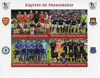 Madagascar 2018 MNH Premiership Football Arsenal Chelsea 4v IMPF M/S Stamps