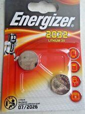 Pile Energizer lithium 3V CR2032 montre calculatrice appareille photo lot 2pcs
