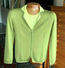 Chanel Cashmere Twin Set - Shell Sz. 38 Cardigan Sz. 40 - Olive Green & Yellow