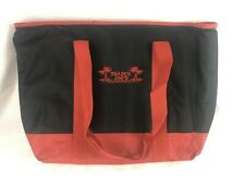 TRADER JOE'S  Extra Large Red & Black REUSABLE Insulated Shopping Bag