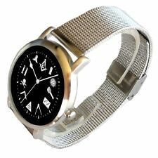 """""""The Classic"""" Masonic Emblem Black Dial Watch Has Stainless Steel Mesh Band"""