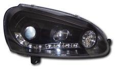 For VW Golf V Mk5 05-09 Black DRL Projector Headlights Lighting Lamp Spare Part