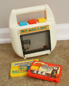 "Vintage 1980's TOMY ""Bring Along A Song"" Toy Tape Player With 2 Tapes"