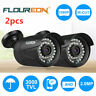 2x 3000TVL 2MP 1080P Waterproof Outdoor CCTV DVR Security Camera Night Vision IR