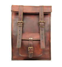 "Vintage Leather Backpack Bag 13"" Laptop Rucksack Shoulder Daypack Travel Handbag"