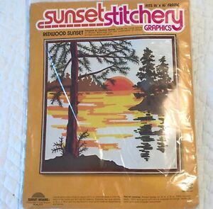 Sunset Stitchery Graphics Embroidery Crewel Kit