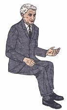 Vintage 1950's Gray Flannel Suit Man Felt Board Applique 3-D Details 10 Inches