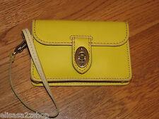 Fossil SL3931001 Asutin Wristlet Citrus Yellow Leather iPhone phone 60.00 NWT *^
