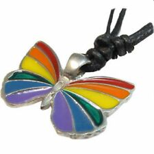 Gay Pride Pendant Rainbow Butterfly