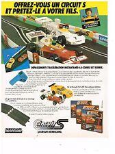 PUBLICITE ADVERTISING  054  1979  MECCANO  jeux jouets  CIRCUIT S  voitures
