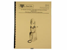 """Delta Rockwell 14"""" Band Saw Older Style Operating &  Parts List  Manual *1097"""