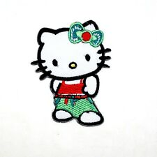 Hello Kitty Hip Hop Dancer Clothing DIY Cute Girl Gift Embroidery Iron on Patch