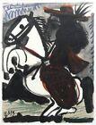 PABLO PICASSO Cavalier 14.5 x 10.5 Lithograph 1959 Cubism Black & White, Brown,