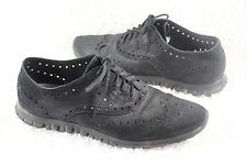 Cole Haan Mens Zerogrand Stitchlite Wingtip Oxford Shoes 10 Black Sneaker Work